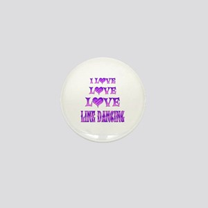 Love Love Line Dancing Mini Button